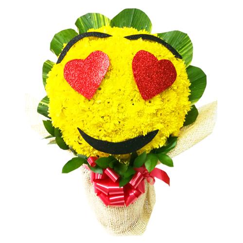 caritas felices emoticon enamorada florería la orquídea